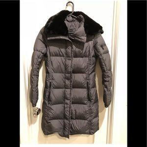 Add Down Women's Down Coat with Fur Border